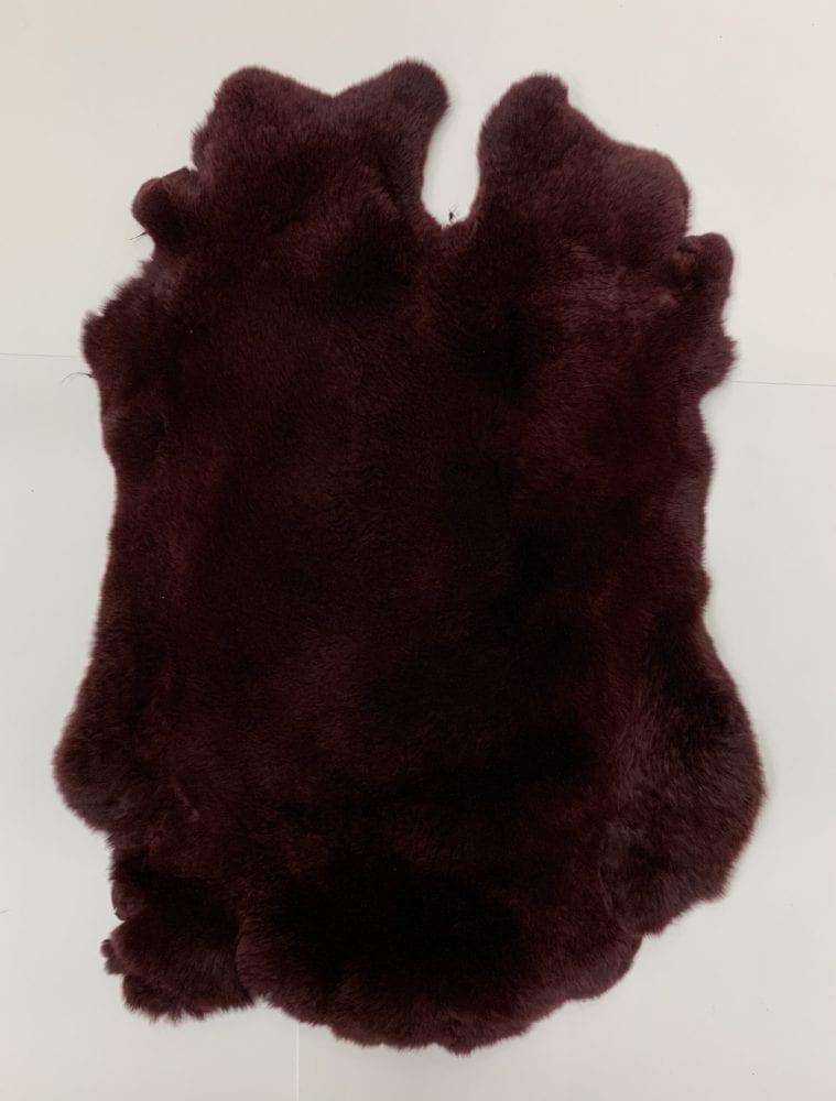 Мех кролика цвет тёмно-бордовый