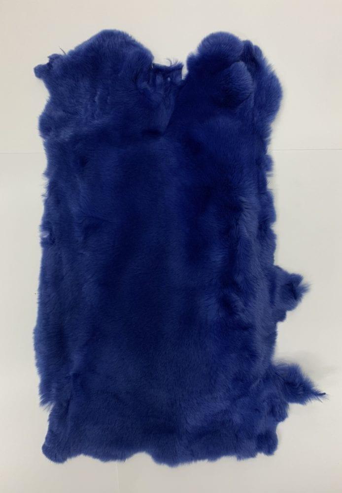 Мех кролика цвет синий