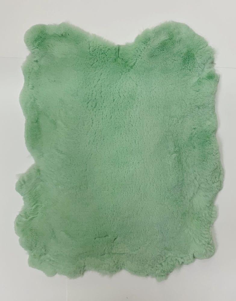 Мех стриженный кролик цвет морской зелёный