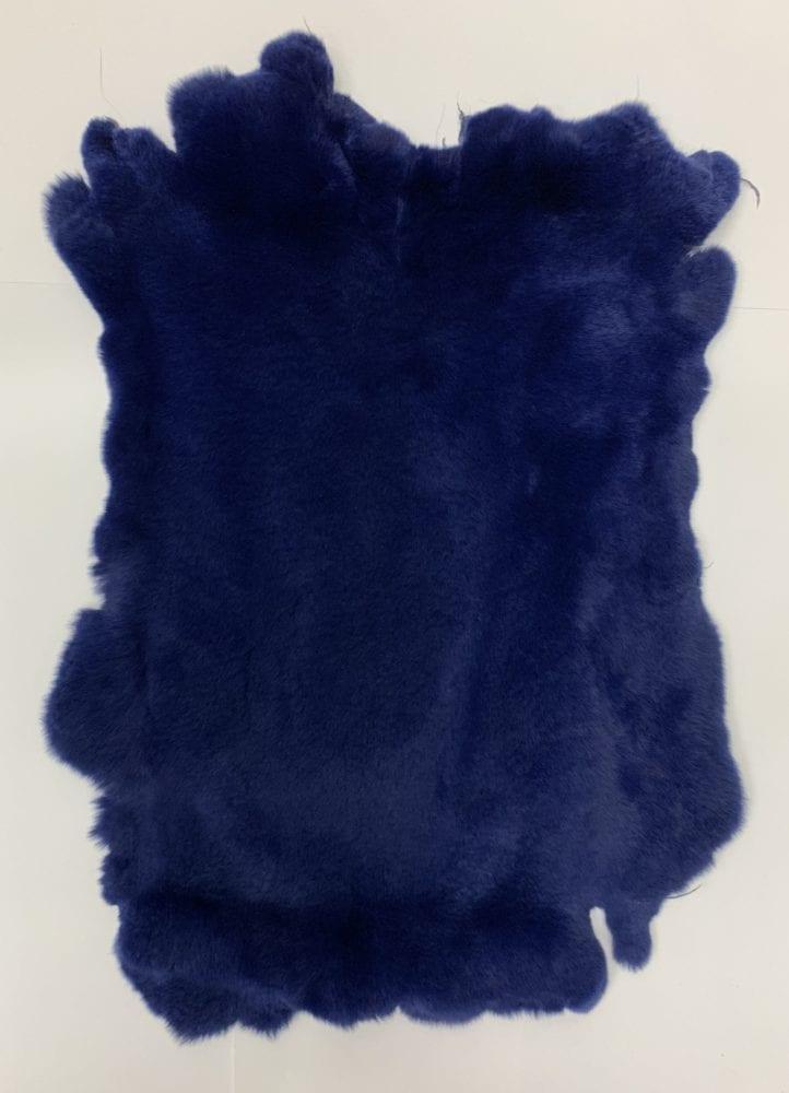 Мех кролика цвет тёмно-синий
