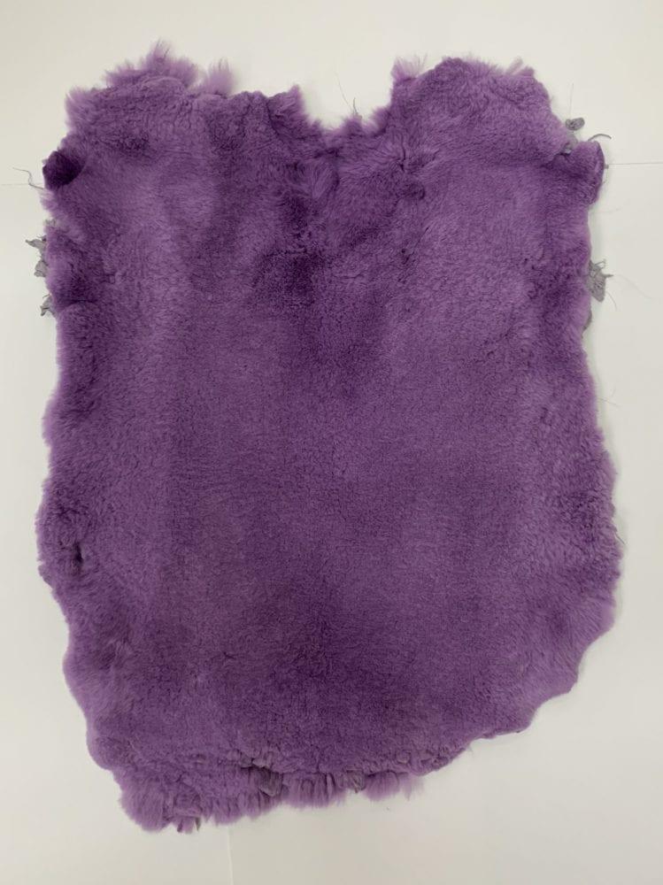 Мех стриженный кролик цвет фиолетовый