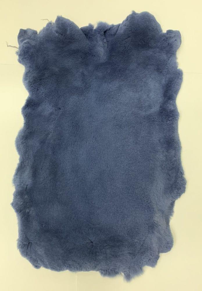 Мех стриженный кролик цвет светло синий