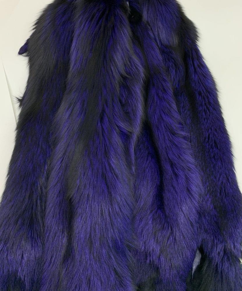 Лиса крашенная пурпурно-синяя