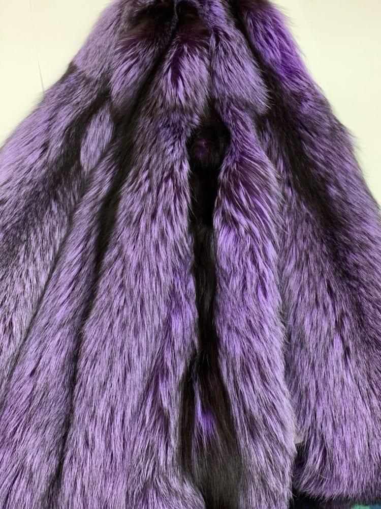 Лиса крашенная фиолетовая