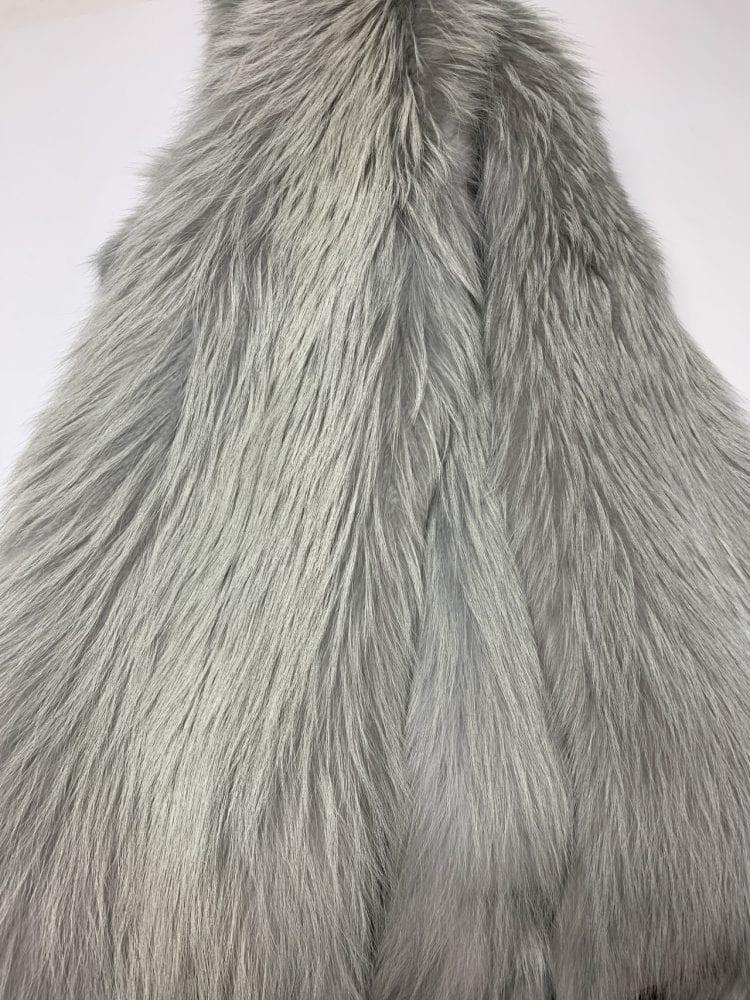 Енот крашенный в цвет Серебра