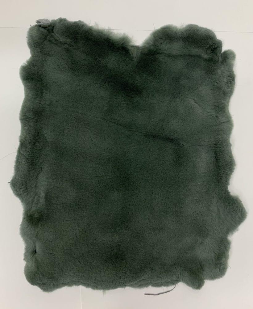 Мех стриженный кролик цвет тёмно-зелёный