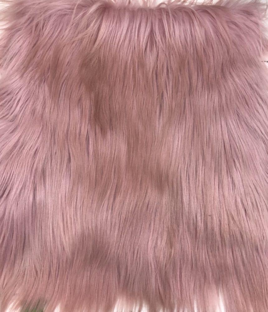 Пластина из меха яка розовый