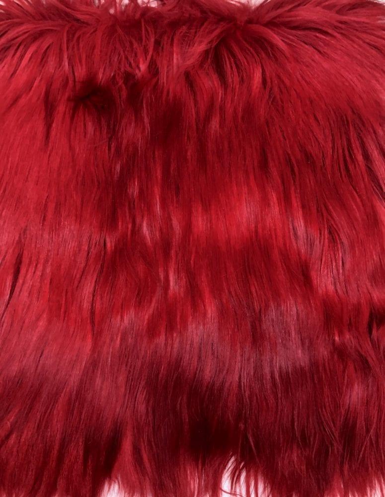 Пластина из меха яка цвет красный