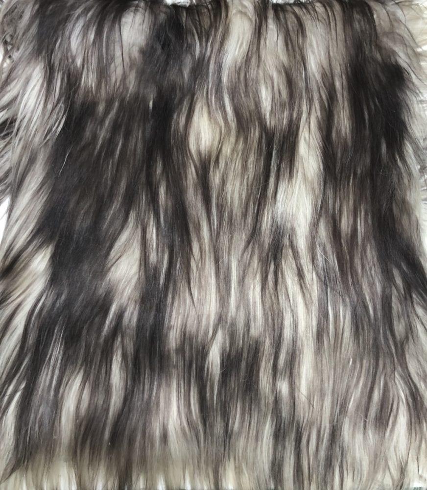 Пластина из меха яка Чёрно-белая