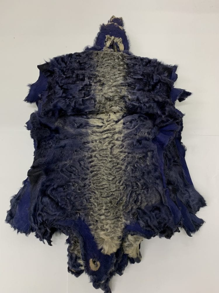 Каракуль крашенный темно синий с хребтом