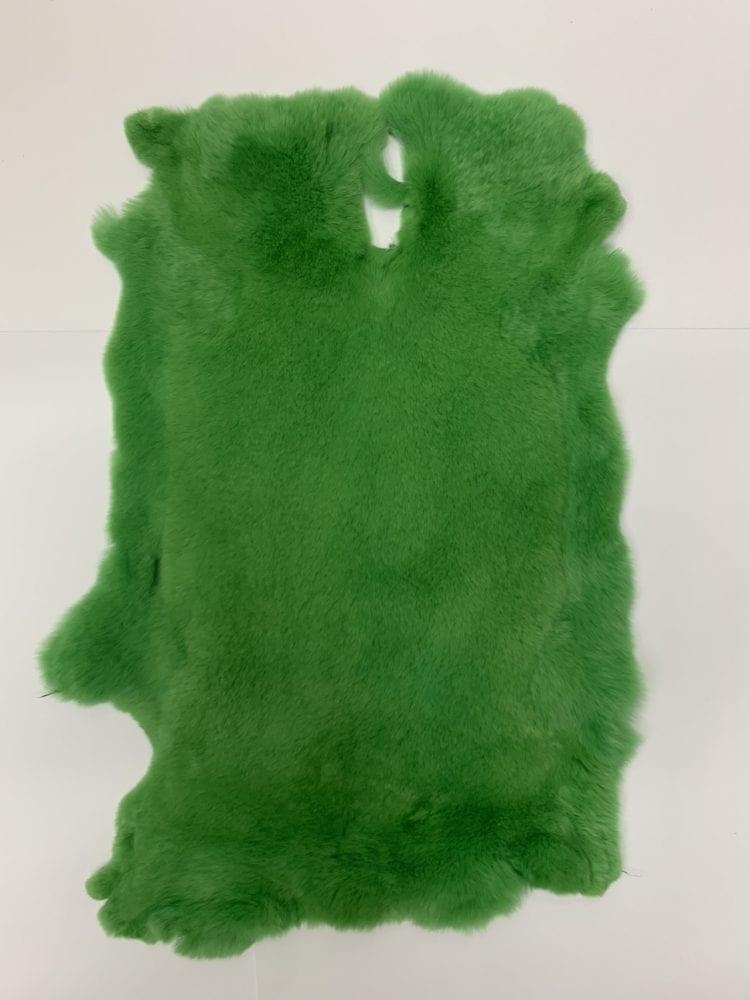 Мех кролика цвет зелёный