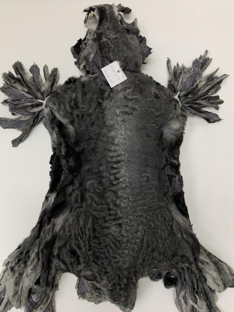 Мех каракуля темно серый натуральный