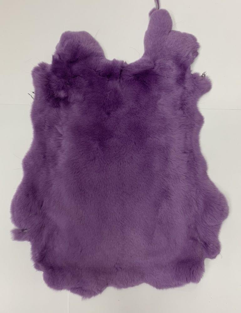 Мех кролика цвет фиолетовый