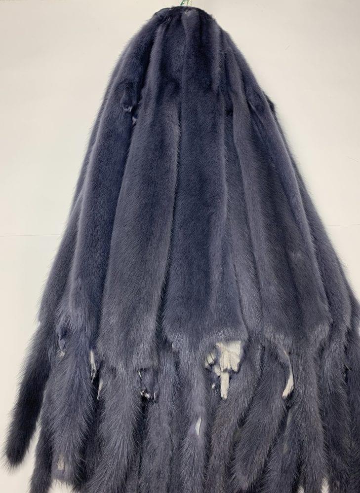 мех норки цвет темно синий
