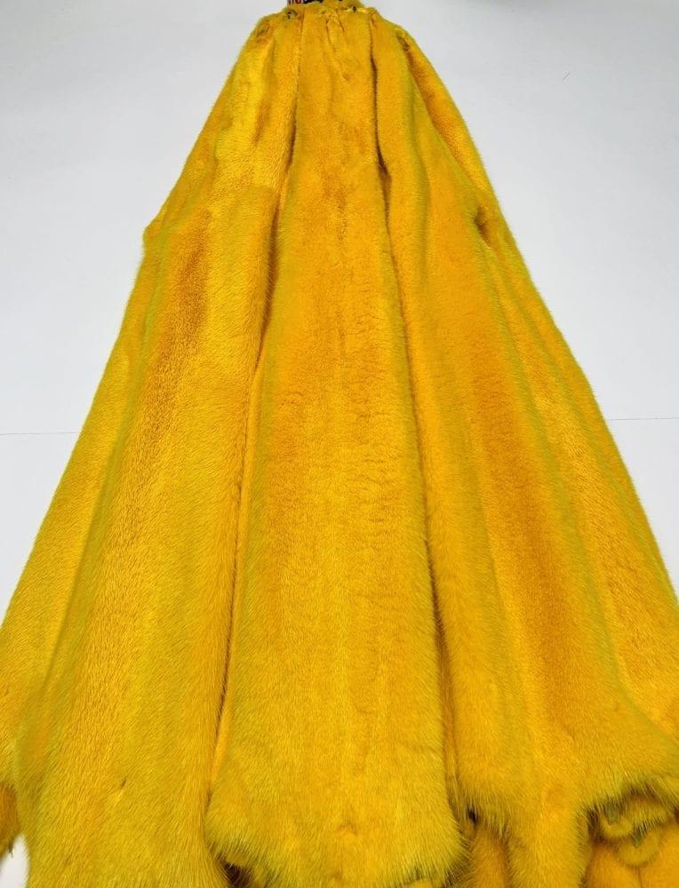 Норка цвет жёлтый