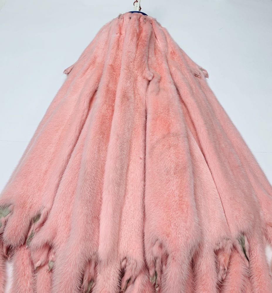 мех норки цвет фламинго