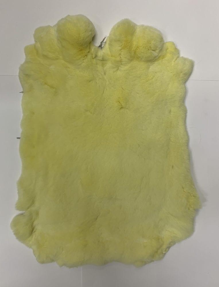 Мех кролика цвет лимонный