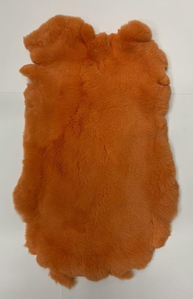 Мех кролика цвет оранжевый