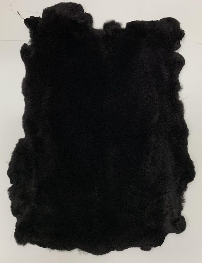 Мех стриженный кролик цвет чёрный