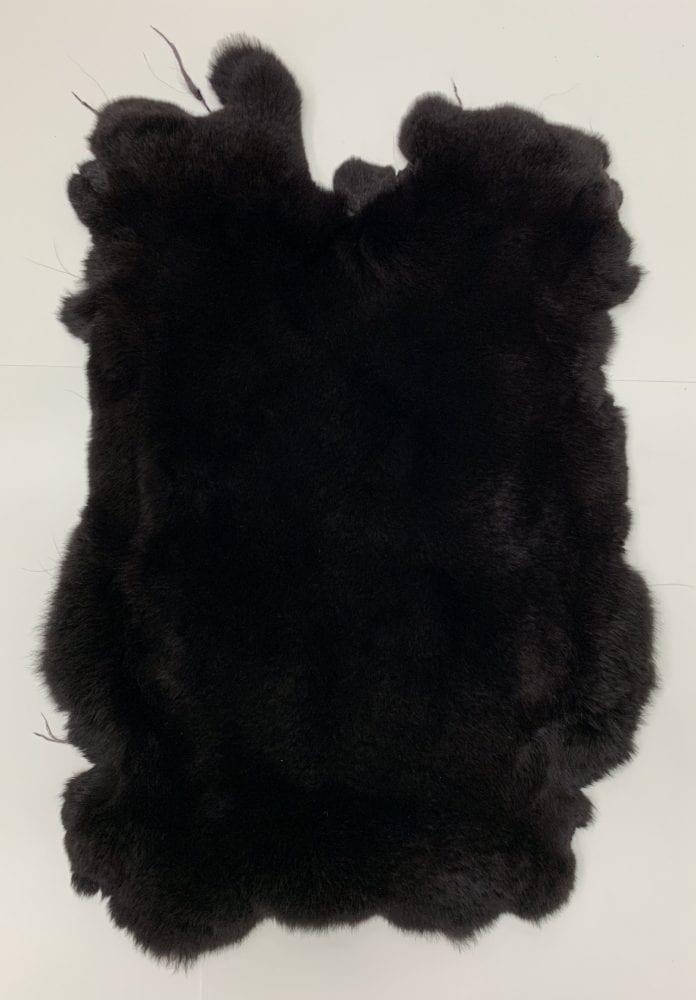 Мех кролика цвет тёмно-графитовый
