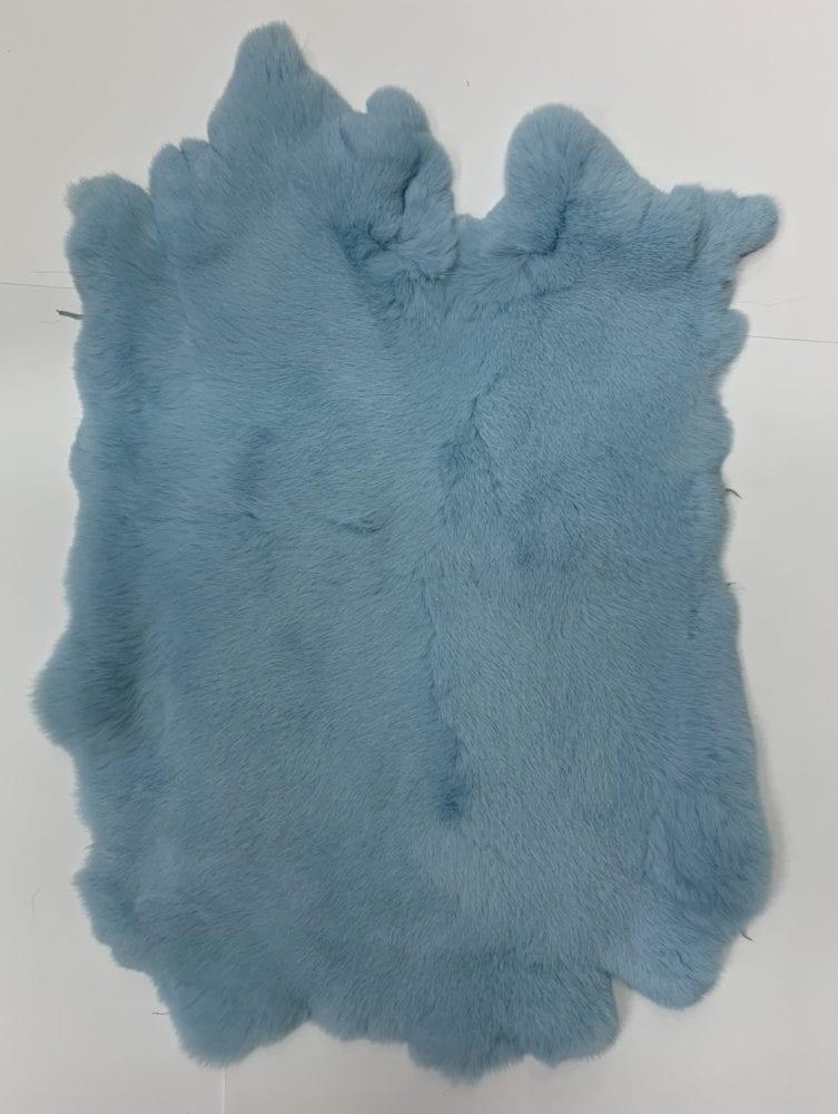 Мех кролика цвет голубой