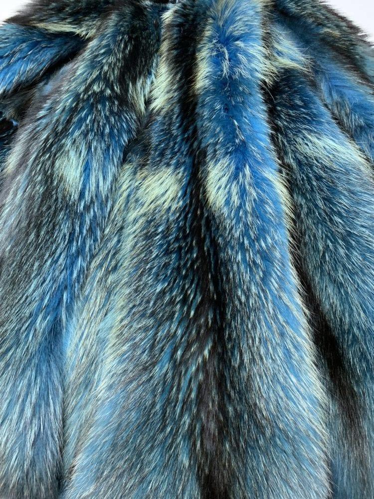 Шкурки енотовидной собаки светло синие