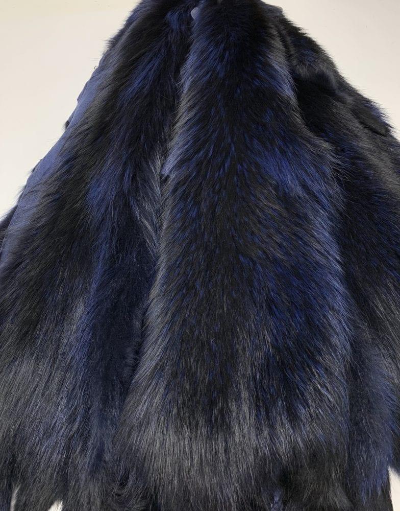 Шкурки енота синие