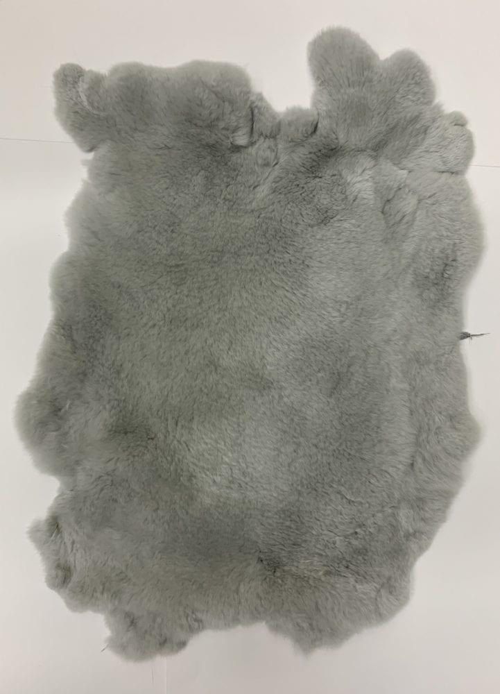 Мех кролика цвет серый