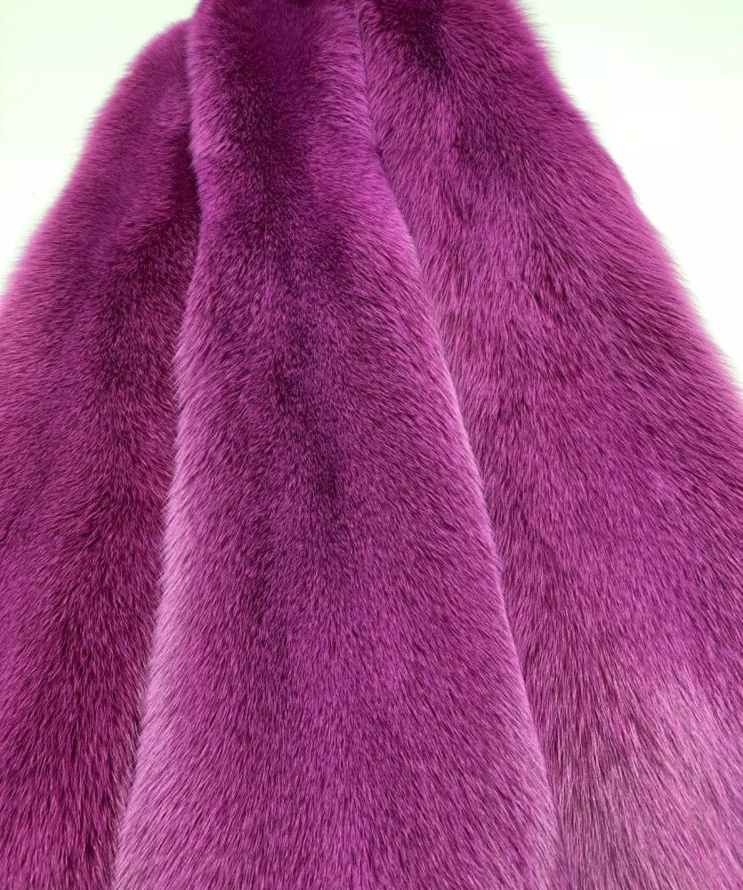 Мех Песца ярко фиолетовый