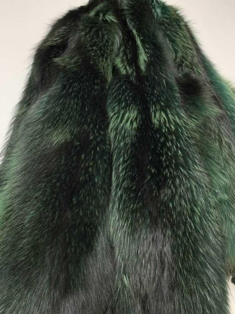 Мех енота зелёный