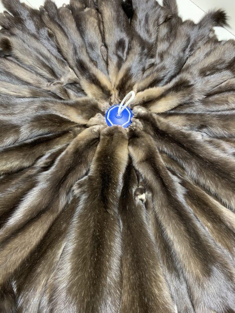Мех Соболя баргузинский светлый с сединой