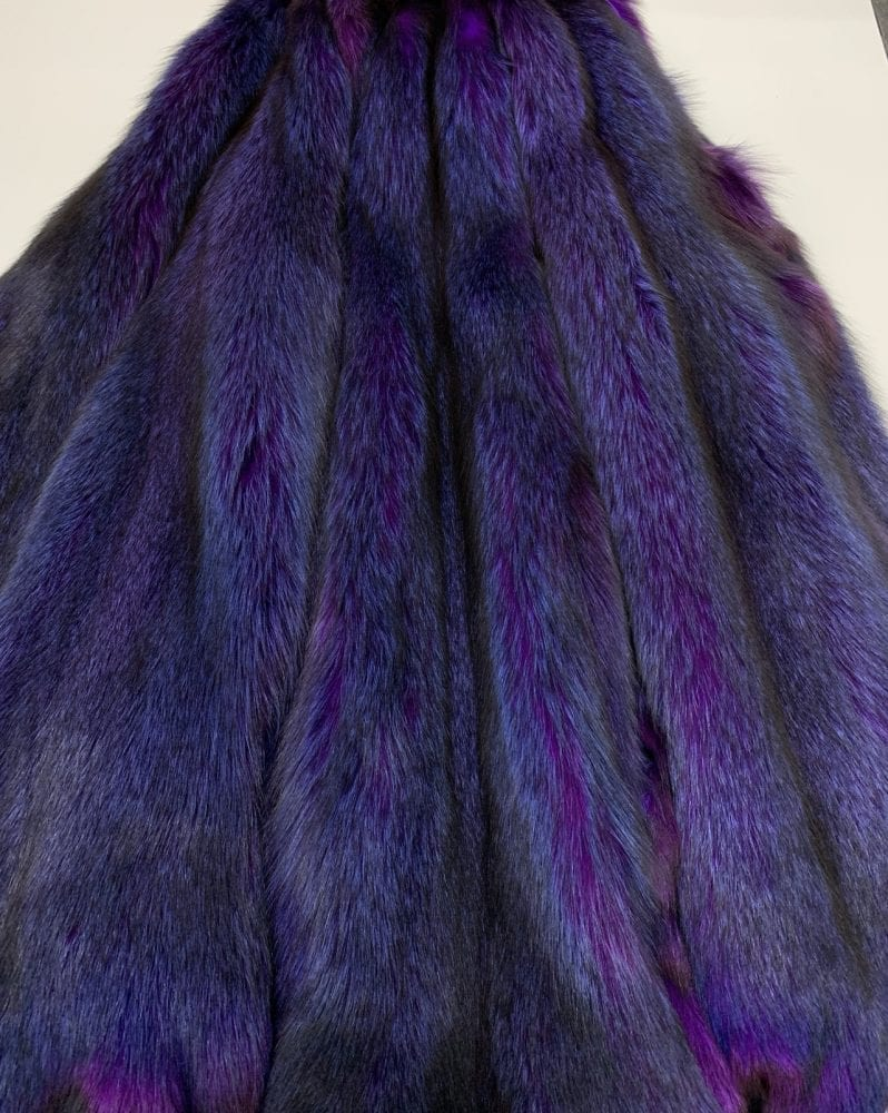 Шкурки песца цвет сине-фиолетовый