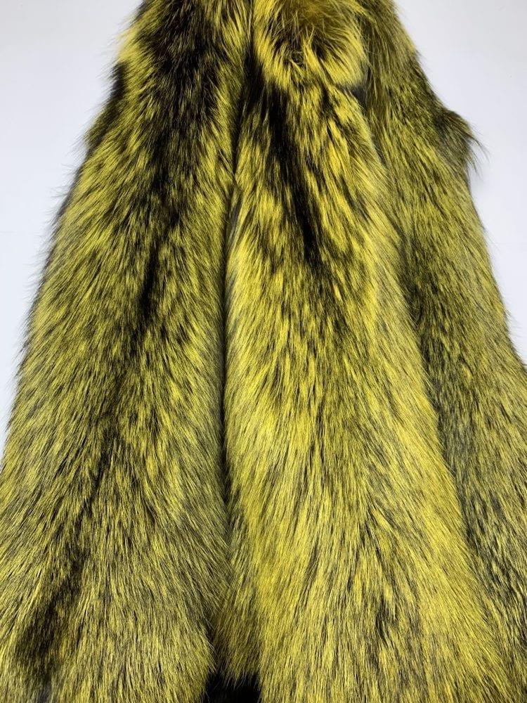 Шкурки лисы Чернобурки жёлтые