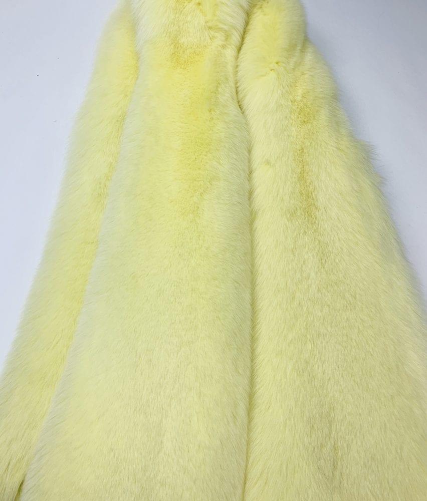 Мех песца цвет лимонный