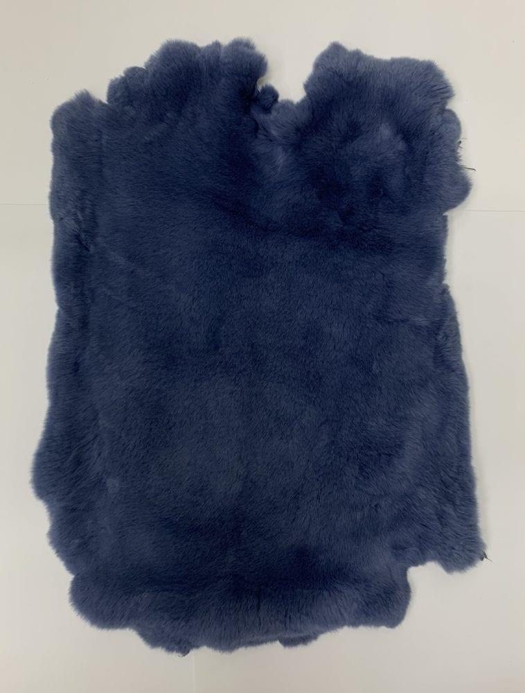 Мех кролика цвет тёмно синий