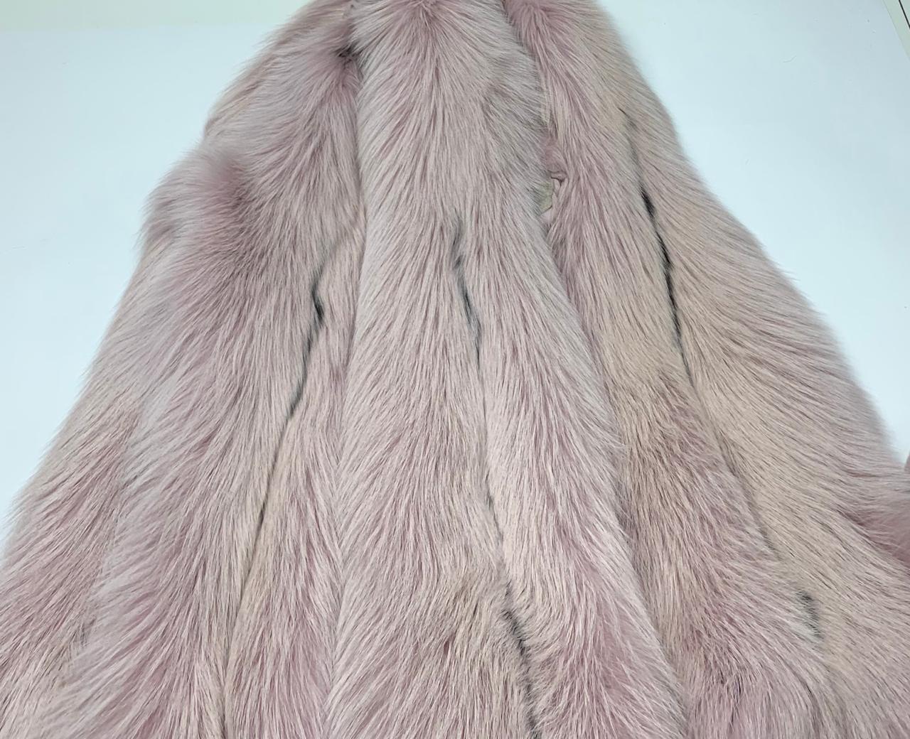 Шкура лисы крашенная розовая