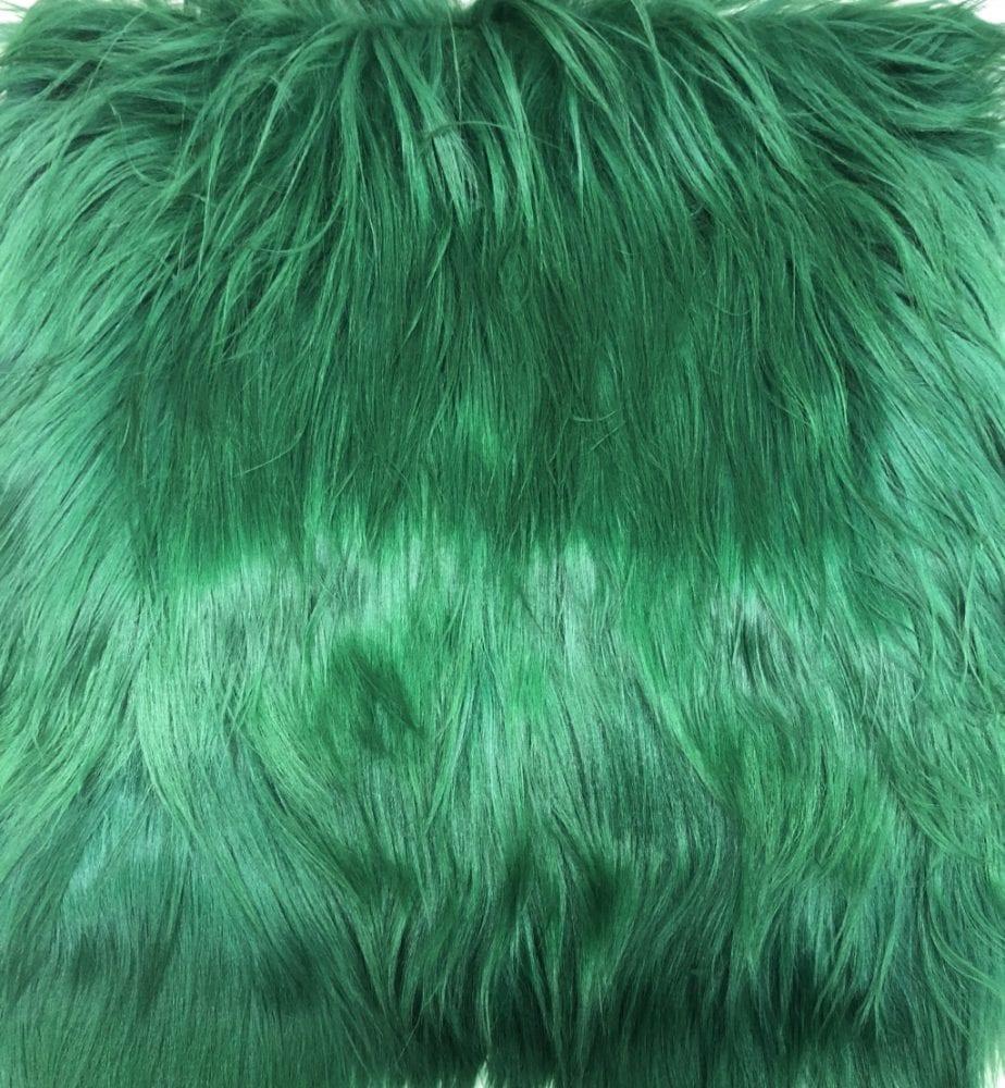 Пластина из меха яка зелёный