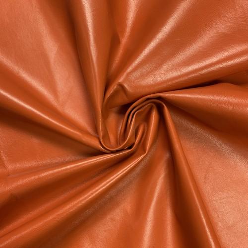 Натуральная кожа оранжевая СЭ8023